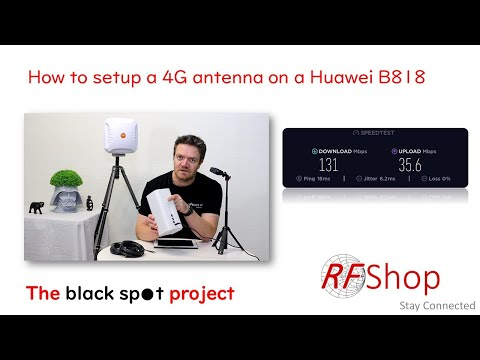 How to connect a 4G external antenna to a Huawei B818 modem
