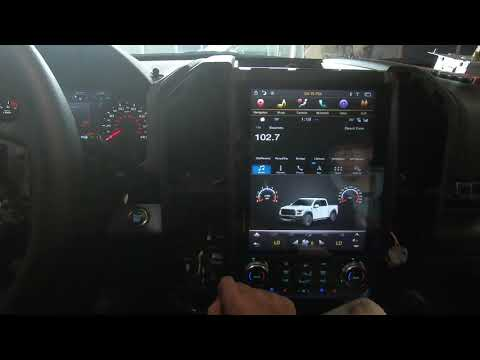 Demo video: 12.1 inch fast boot vertical screen navi unit in 2019 Ford Raptor w/ SYNC3 & auto A/C