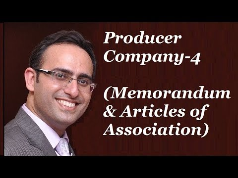 Producer Company-4 (Memorandum & Articles of Association)