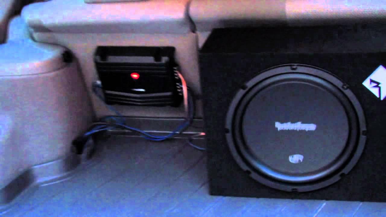 Car Subwoofer Amp Wiring Diagram Rockford Fosgate 12 Quot Sub In Subaru Youtube