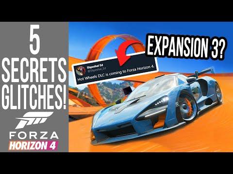 Forza Horizon 4 - 5 Secrets, Glitches & Easter Eggs! HOT WHEELS EXPANSION 3 in Development?