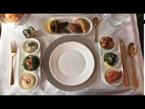 Emirates Arabic Mezze Flight from Dubai to Zurich  first class 30/07/2017