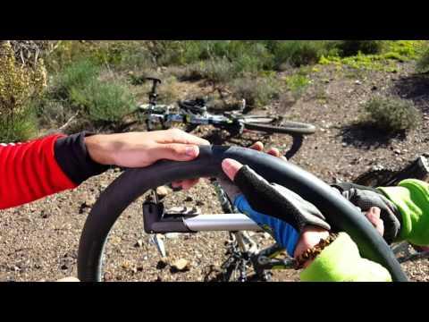 Cruda realidad ciclista montaña pinchazos y pinchazos y tiro porque me toca