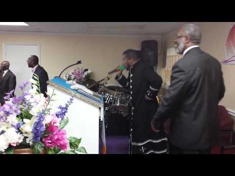 Pastor Odane James preaching at Florida Youth Meeting