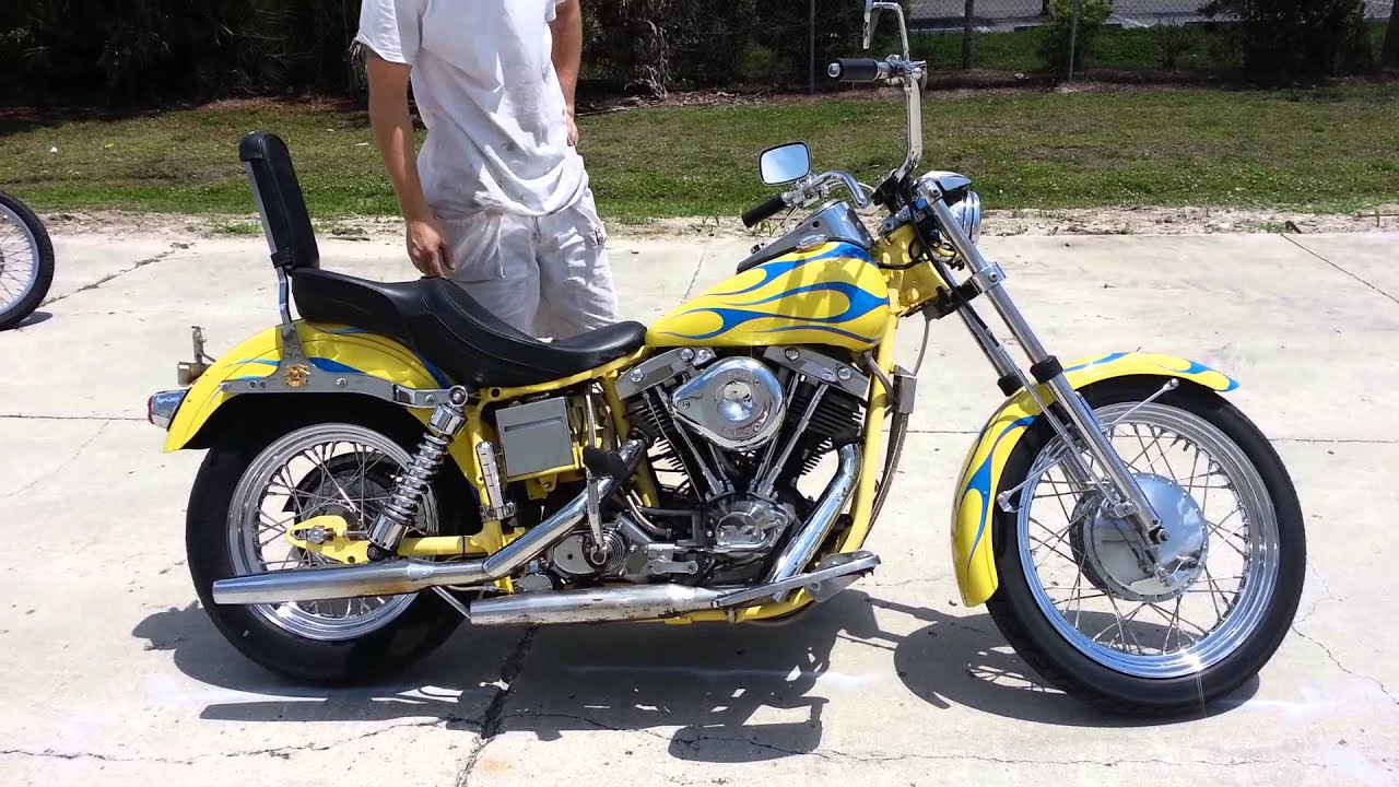 1972 Harley Davidson FX Shovelhead for Sale! - YouTube