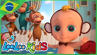 Cinco Macaquinhos - Músicas Para Crianças - LooLoo Kids Português