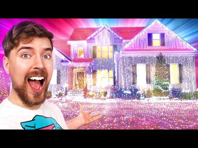 I Put 1,000,000 Christmas Lights On A House (World Record)