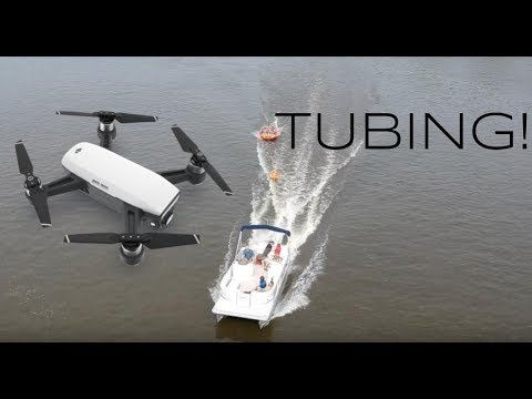 DJI Spark - Tubing - Pontoon Boat - ActiveTrack - Rock River, Illinois