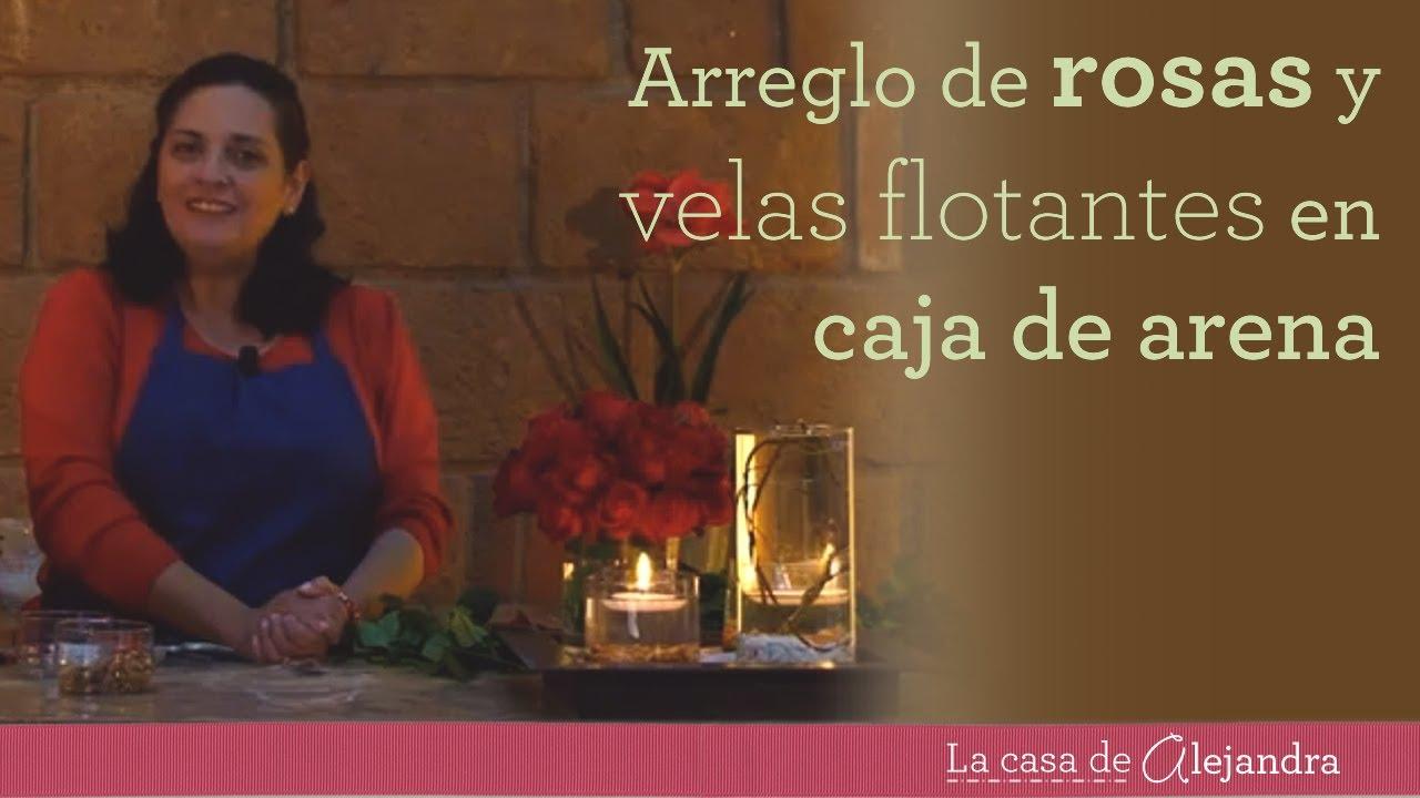 Como hacer un arreglo de rosas y velas flotantes en caja - Como hacer velas ...