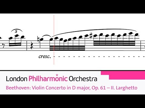 Beethoven: Violin Concerto in D major, Op. 61 – II. Larghetto