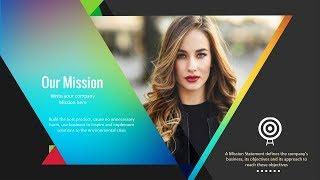 How to Create Vision & Mission Slide for Corporate Presentation. Free Slide | Free PPT | Awesome