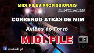 ♬ Midi file  - CORRENDO ATRÁS DE MIM - Aviões do Forró