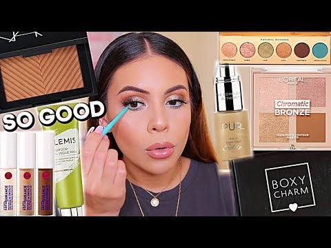 GET READY WITH ME: JULY BOXYCHARM + TESTING NEW MAKEUP! | JuicyJas