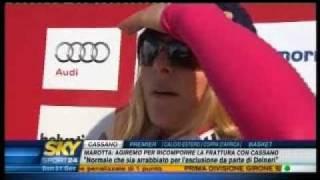 Nadia Fanchini combattiva.