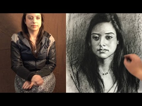 How to start a portrait drawing from live, revised