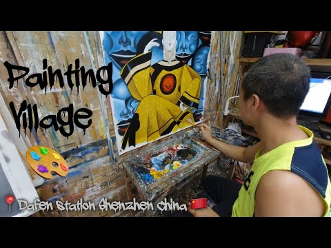 Dafen - A Village of great Artists in China.  |VLOG 11| Shenzhen China