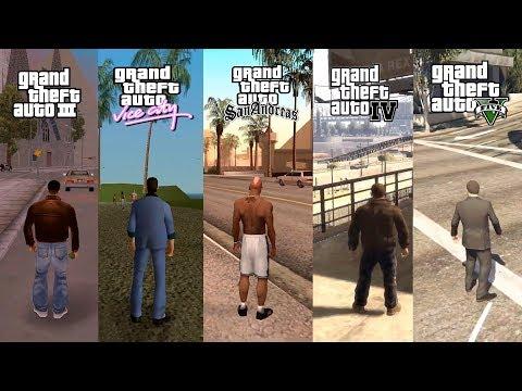 GTA III Vs GTA VC Vs GTA SA Vs GTA IV Vs GTA V Comparação