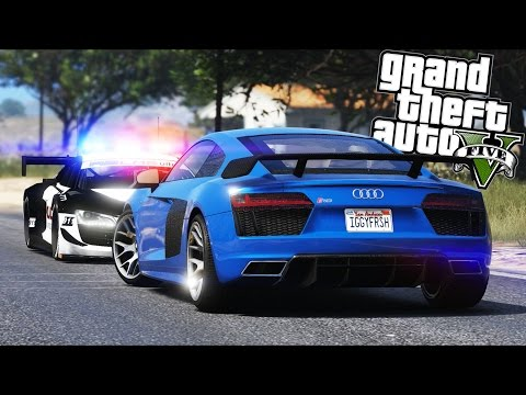 GTA 5 - Evade Ep11 - 2016 Audi R8 Police Chase!!