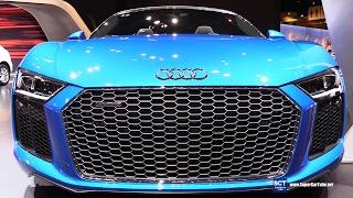 2018 Audi R8 Spyder 5.2 FSI - Exterior  Interior Walkaround - 2017 Chicago Auto Show