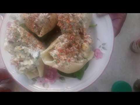 Salmon Salad Stuffed In Pasta Shells