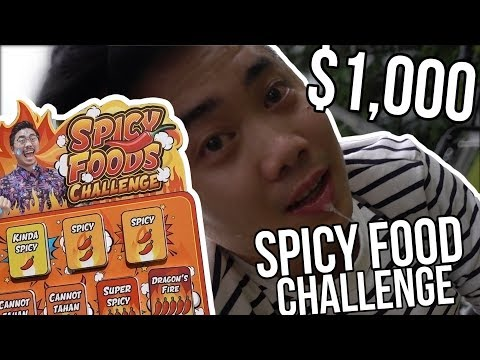 $1,000 SPICY FOOD CHALLENGE!!! (SONY RX100V)