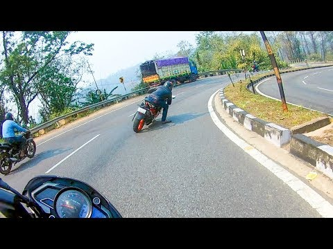He Almost Crashed    Shillong Road