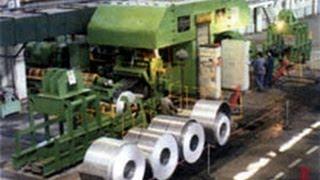 Aluminum strip sheet band hot roll machine equipment casting processing forming platevbv