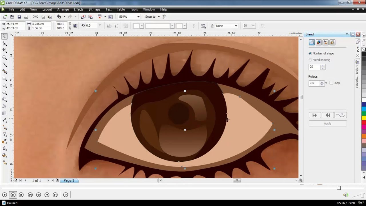 Vector Tracing Eyes Easy and Simple - YouTube