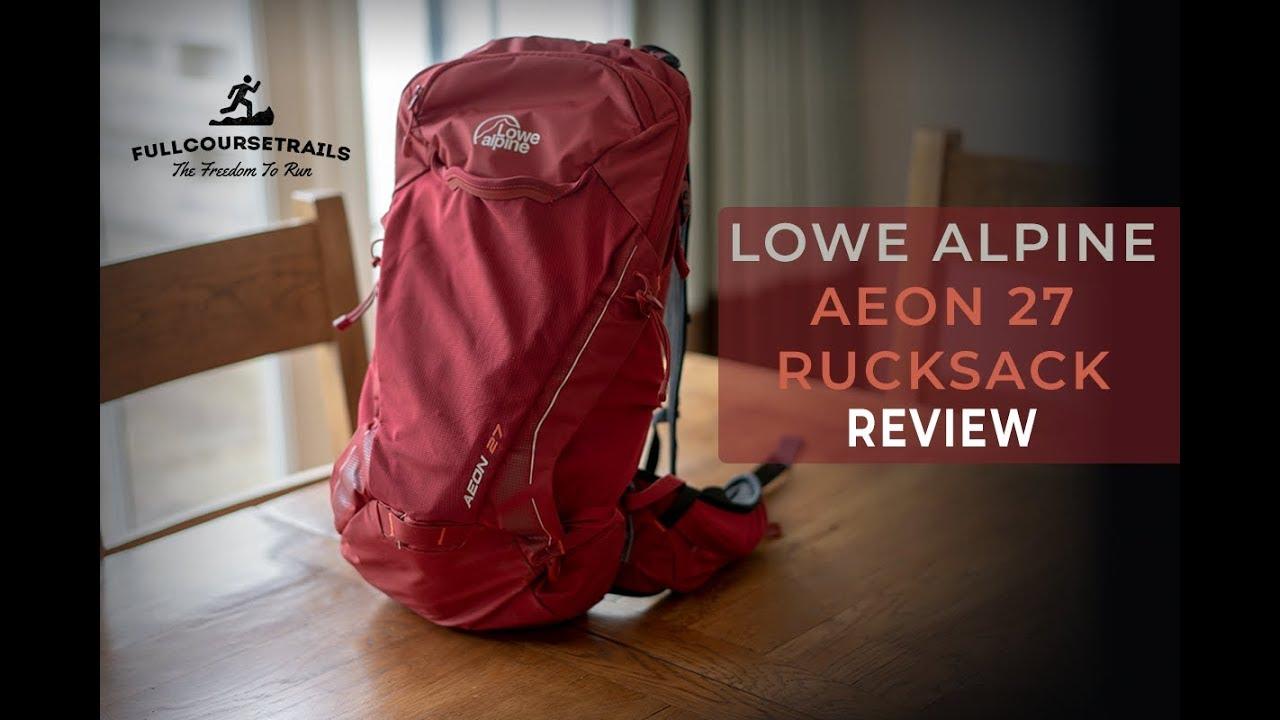 4f9eca14b5a96 Lowe Alpine Aeon 27 Rucksack Review - Full Course Trails - YouTube