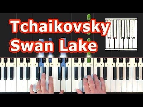 Tchaikovsky - Swan Lake Theme - Piano Tutorial Easy - How To Play (Synthesia)