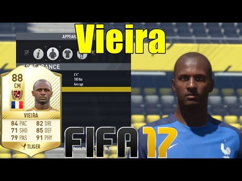 FIFA 17 - Vieira - Virtual Pro Look A Like Tutorial  with Stats
