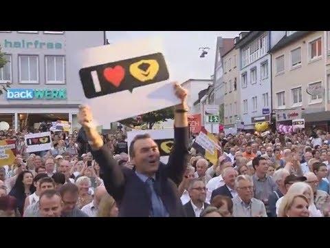 Wahlkampf 2017: Angela Merkel wirbt in Heilbronn, Martin Schulz in Stralsund