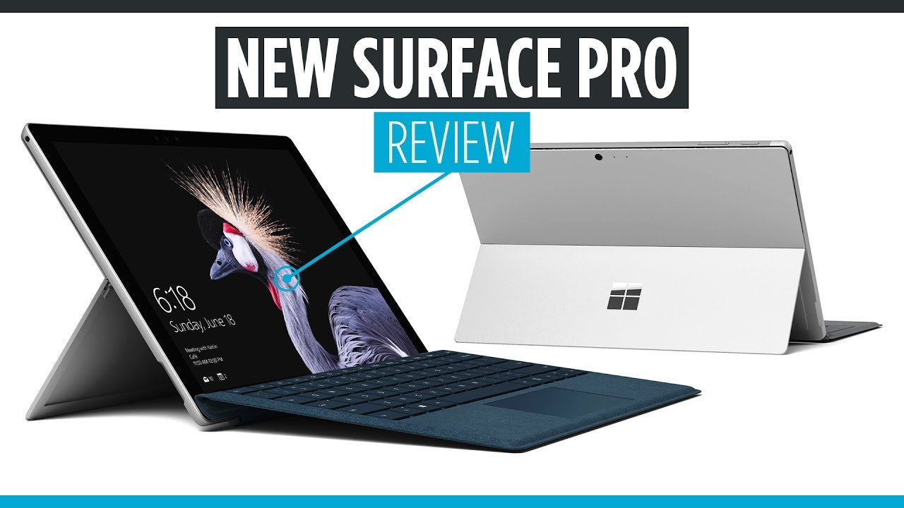 review the new microsoft surface pro 2017 surface pro 5 youtube. Black Bedroom Furniture Sets. Home Design Ideas
