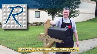 Using Expanding Urethane Foam To Set A Mailbox Post