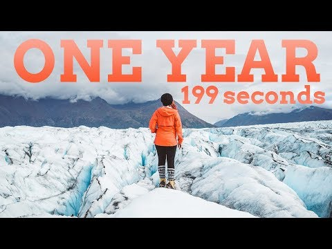 ONE YEAR in 199 SECONDS | 2017 Travel Montage