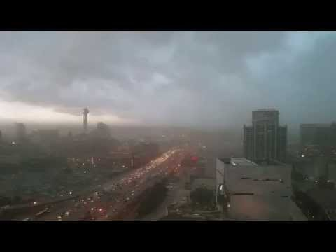 Dust front hitting downtown Dallas