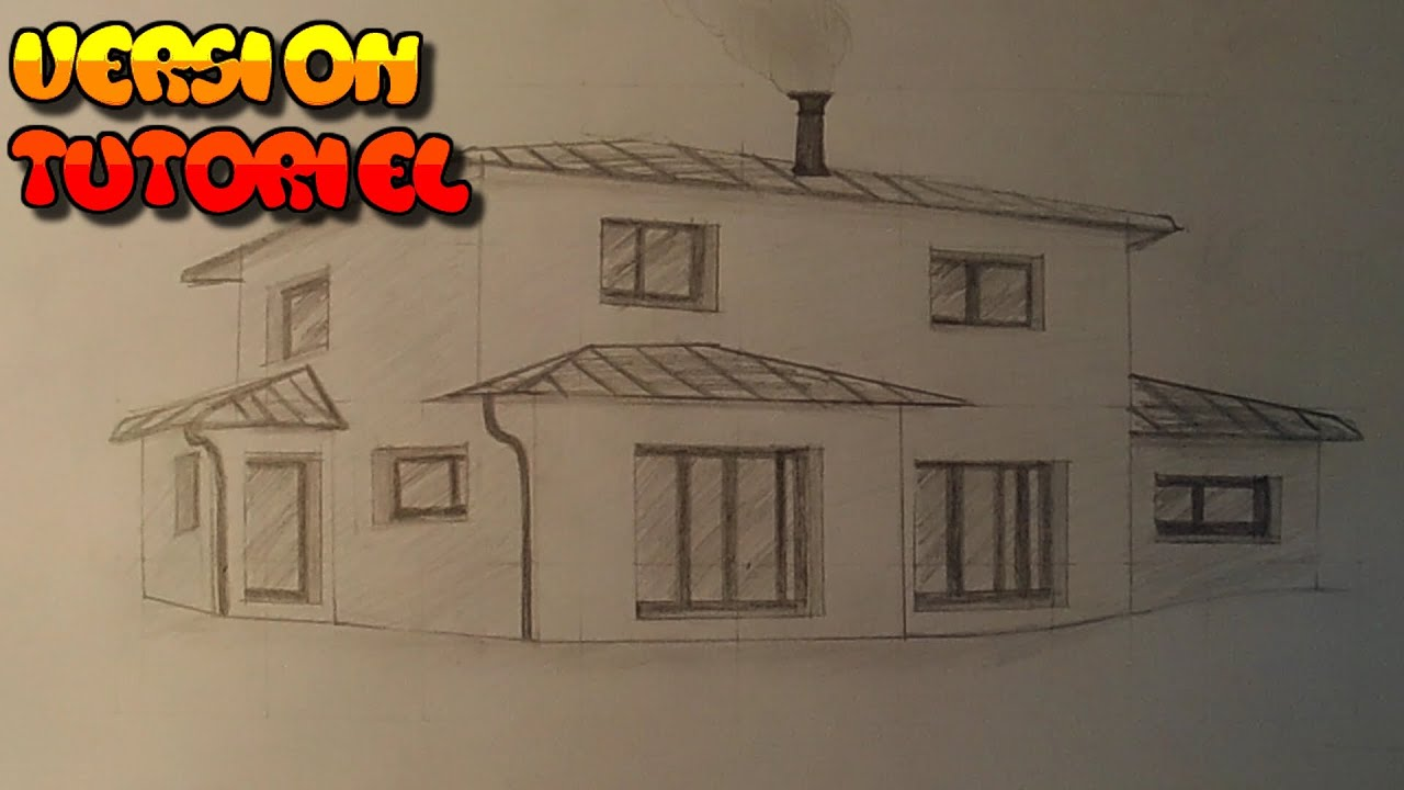 comment dessiner une maison tutoriel youtube. Black Bedroom Furniture Sets. Home Design Ideas