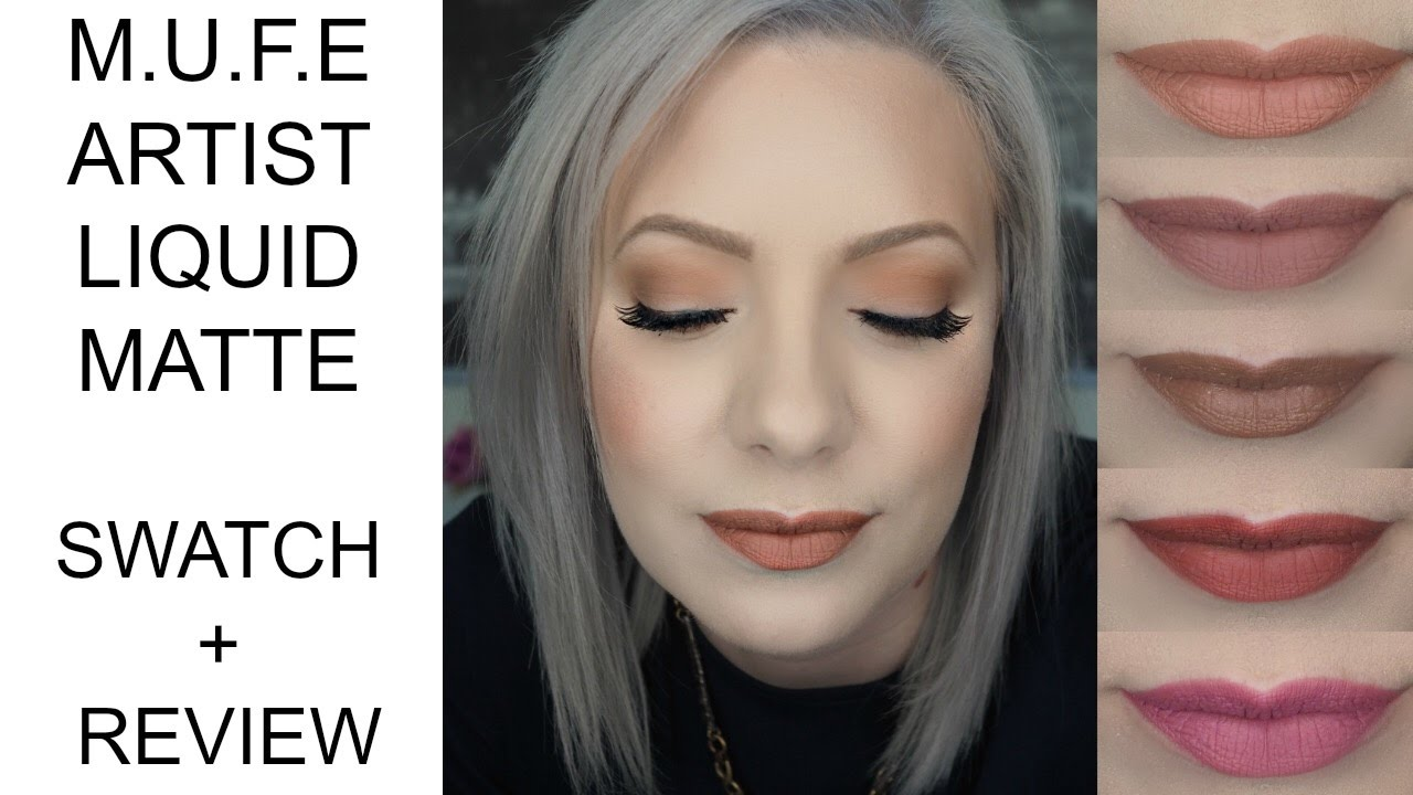 LIP SWATCHES MAKE UP FOR EVER ARTIST LIQUID MATTE SWATCH + REVIEW - YouTube