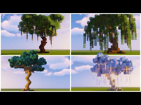 Custom Fantasy Tree Designs   Minecraft Tutorial