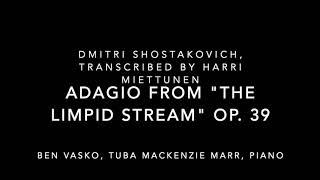 "Ben Vasko, tuba; Adagio from ""The Limpid Stream"" op. 39- D. Shostakovich"