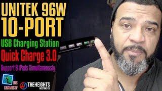 Unitek 96W 10-Port USB Charging Dock Hub 🔌 : LGTV Review