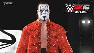 WWE 2K16 Sting Entrance & Breakout (Wrestlemania 31 Sting)