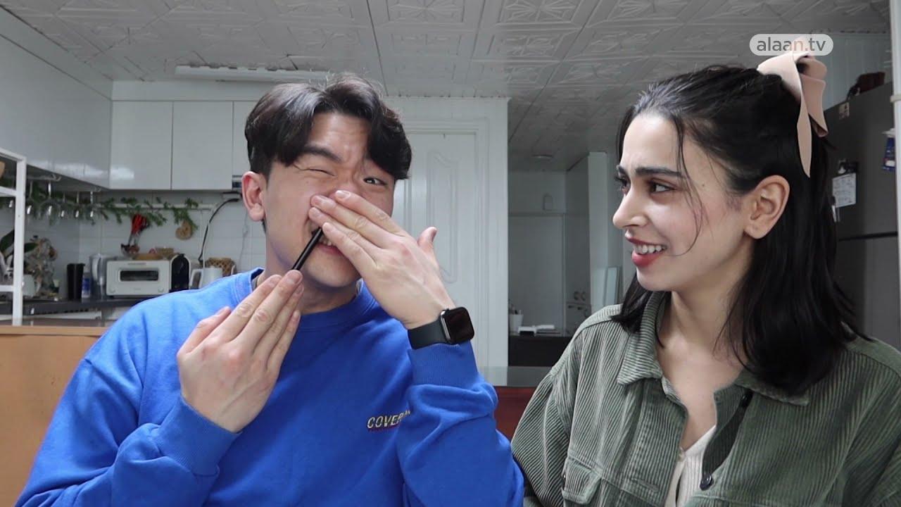 مقتطفـات | عرب في كوريا - لينا تعلم صديقها الكوري اللغة العربية  - 13:01-2021 / 4 / 21