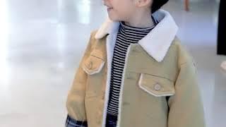 겨울 남아 아동 자켓 기모 추가 상의 캐주얼룩