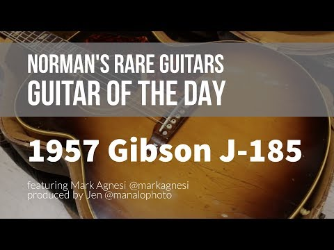 Norman's Rare Guitars - Guitar of the Day: 1957 Gibson J-185