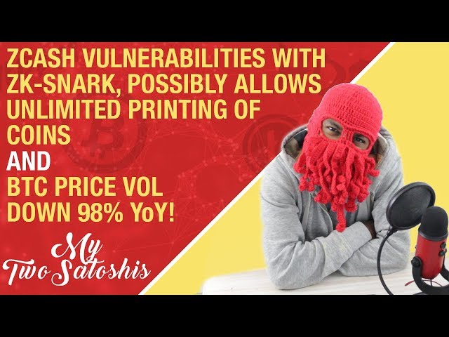 Zcash's ZK-SNARK Vulnerabilities Possibly Allows Unlimited Print of Coins + BTC Price Vol Down 98%