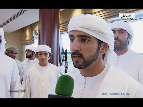 Interview Sheikh Hamdan (فزاع Fazza) Dubai Crown Prince Camel Race Festival (3 February, 2019)