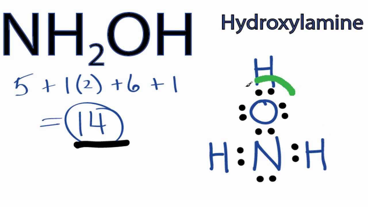 medium resolution of nh2oh lewis structure how to draw the lewis structure for nh2oh hydroxylamine youtube