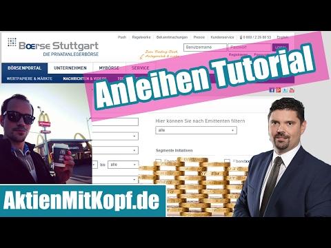 Schritt für Schritt Anleihen Tutorial - Anleihen finden mit dem Anleihentool der Börse Stuttgart