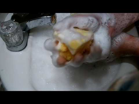 Asmr sponges, liquid soap, sliver & loofah
